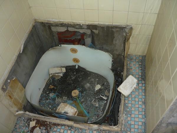 バスルーム施工中