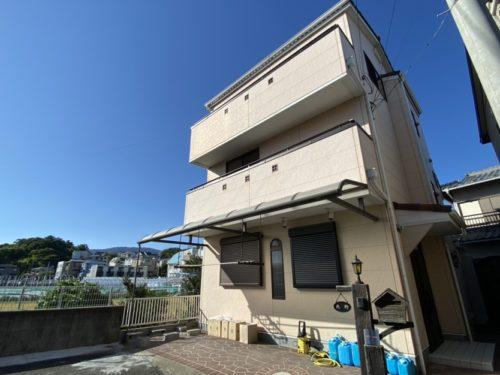 駅まで平坦、西宮市広田町の南向き3階建住宅