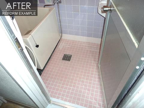 ヒヤリとしない床 浴室のリフォーム 2枚目