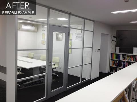 開放的な空間 オフィスリフォーム