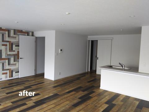 4階建て文化住宅 2階部分の全室を3LDKの居住空間にリフォーム