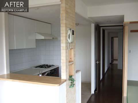 キッチンを中心とした中古マンション住み替え前リフォーム