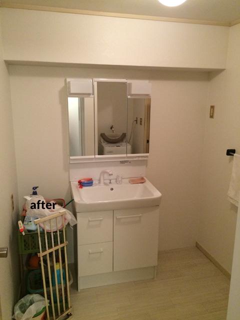 マンション アスベスト含有の浴室・洗面所などの水回りをリフォーム  7枚目