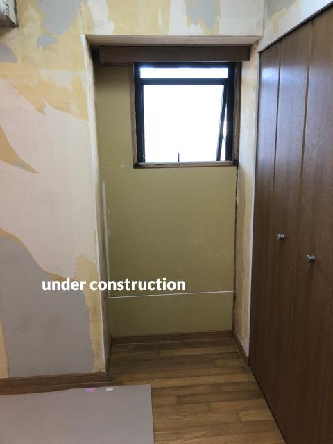 高層マンション ほとんど使用していない北面壁を結露対策補修工事 7枚目