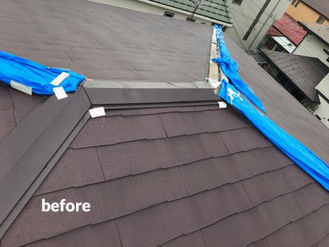 老朽化した大屋根の棟包板金・下地桟木とベランダをリフォーム 2枚目