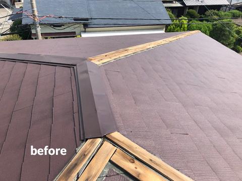 老朽化した大屋根の棟包板金・下地桟木とベランダをリフォーム 3枚目