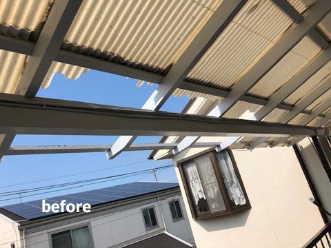 老朽化した大屋根の棟包板金・下地桟木とベランダをリフォーム 5枚目