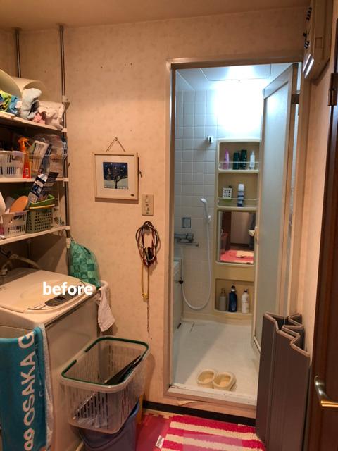 浴室・洗面所をダークな色合いでシックな空間にリフォーム 4枚目