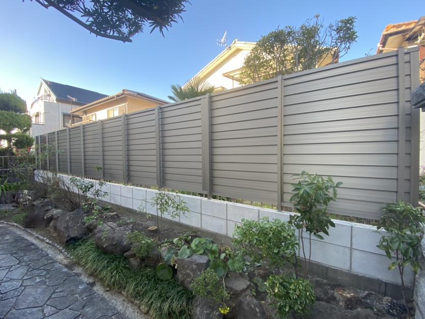 駐車場拡張工事・フェンス敷設で庭をスッキリ変える